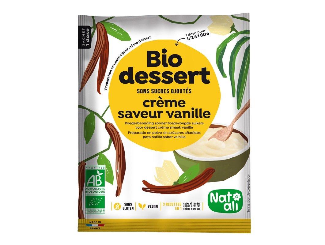 cr me dessert bio sans sucre la vanille. Black Bedroom Furniture Sets. Home Design Ideas