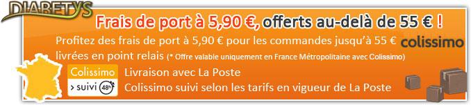 6 € de frais de port, offert au-delà de 85 € de commande