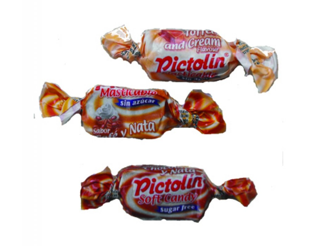 Pictolin tendre chocolat, caramel, café. 100 g