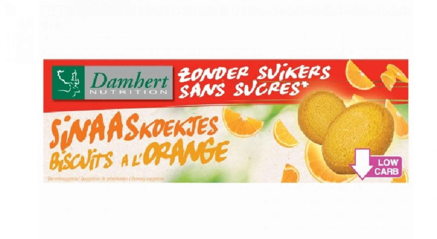 Biscuits à l'orange sans sucre ajouté 160 g - D
