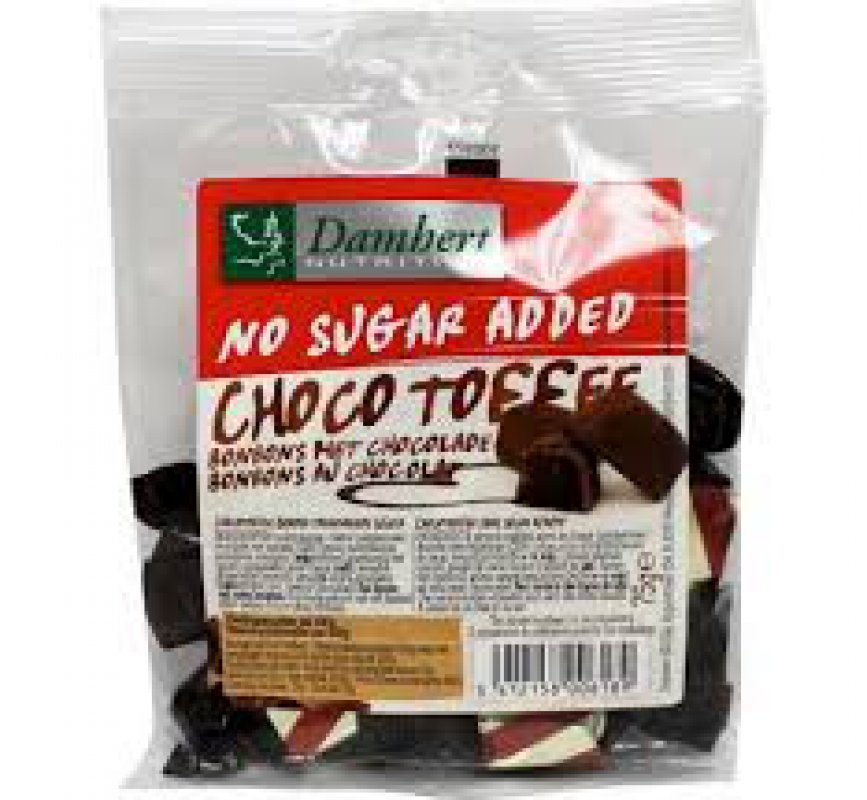 Choco Toffee sans sucre ajoute Damhert 75 g