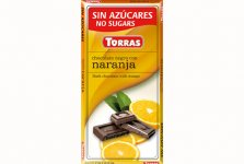 Tablette chocolat noir et orange Torras 75g